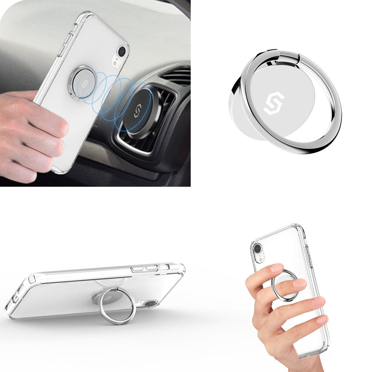 Syncwire Phone Ring Holder-Sliver