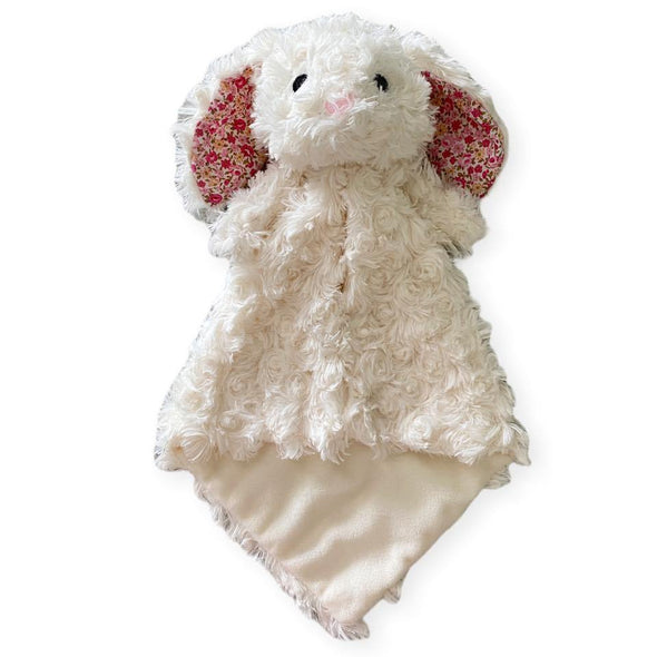 .Floral Bunny lovey blankie