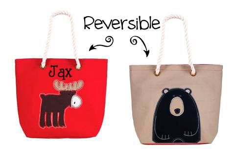 Moose/Bear Red Tote