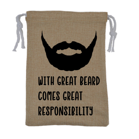 With Great Beard, Comes Great Responsibility Bag