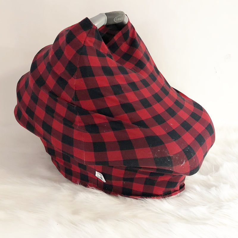 Buffalo Plaid Stretchy Car Seat Cover