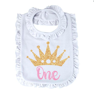 Ruffle Bib - Birthday Princess