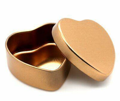 .Gold Heart Keepsake Tin