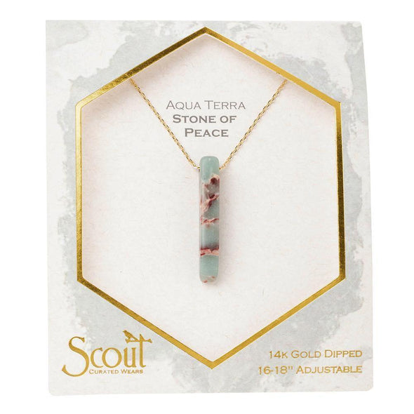 Scout Stone Point Necklace~Aqua Terra/ Stone Of Peace