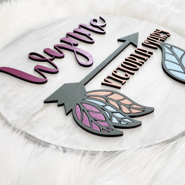 Bohemian Love Wood 3D Sign