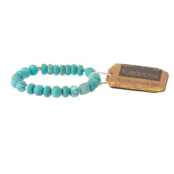 Scout Stone Stacking Bracelet~ Turquoise/ Stone of the Sky