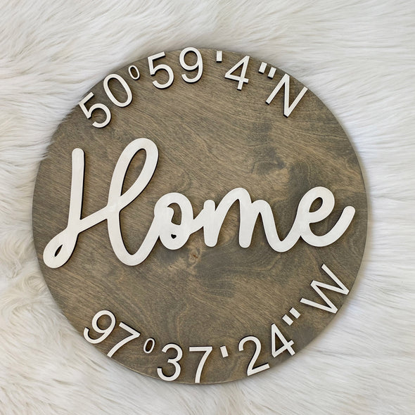 Home Wood 3D Sign