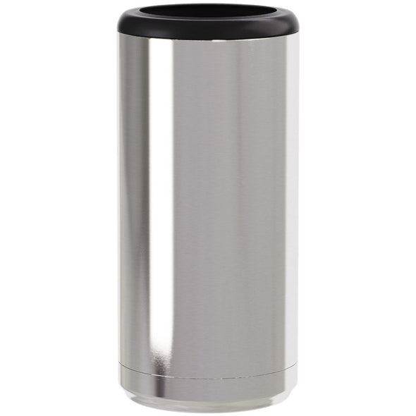 Skinny Can Cooler ~ Silver Steel