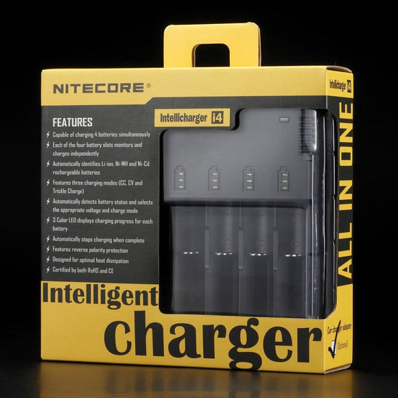 Nitecore I4 Intelligent Battery Charger Battery Chargers Battery Chargers Voodoo Vapes