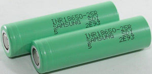 Samsung INR18650-25R 2500mAh Battery - Flat Top Batteries Batteries Voodoo Vapes