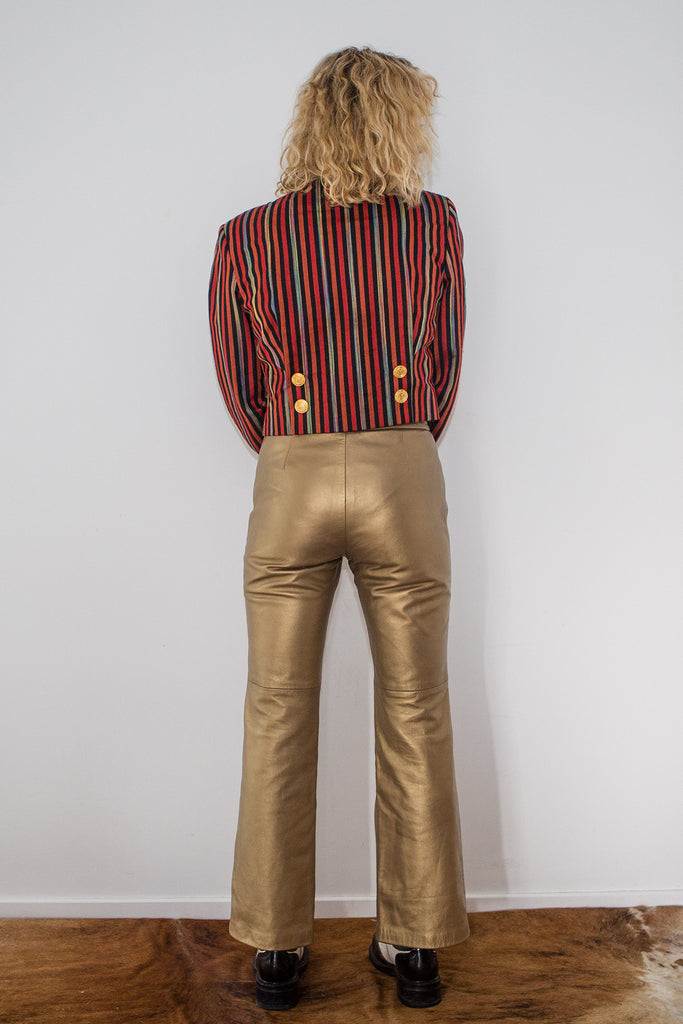 Take A Chance Gold Pants - Designer