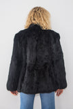 Midnight Rose Fur Coat