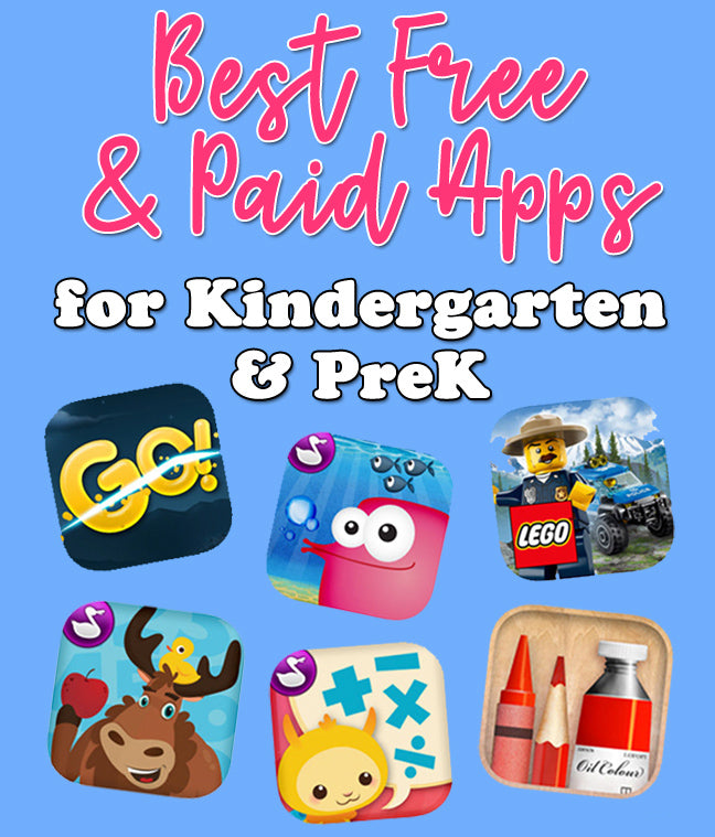 Best Paid & Free Apps for Kindergarten & PreK - HeidiSongs, apps, free, download, sight words, math, phonics, letters, numbers