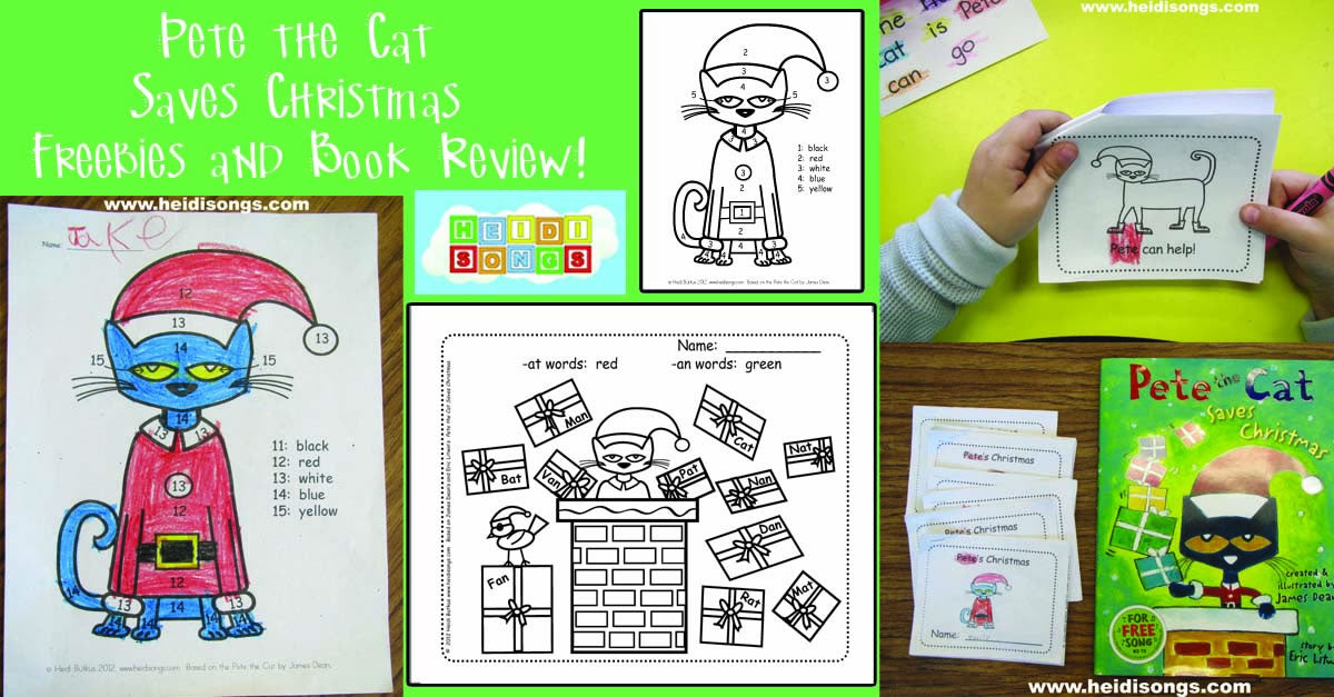 Pete the Cat Saves Christmas Freebies and Book Review!