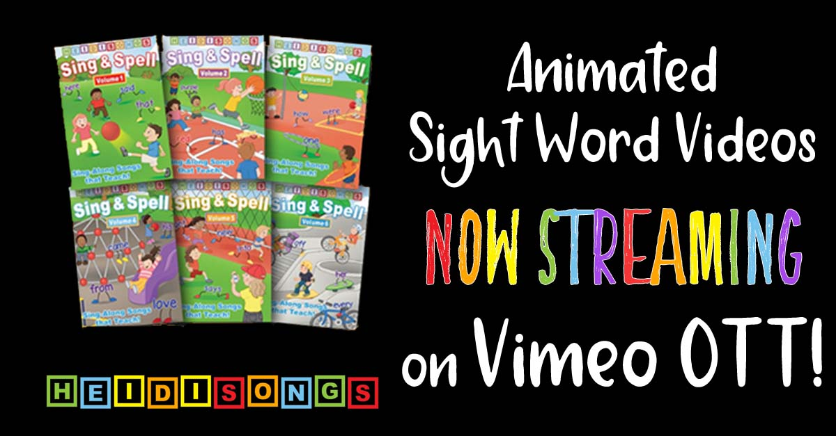 Animated Sight Word Videos Now STREAMING on Vimeo OTT!