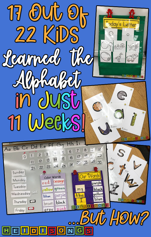 17 out of 22 Kids know their LEtters in 11 weeks!