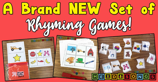 A Brand NEW Set of Rhyming Games