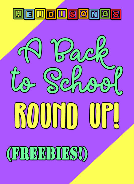 Back to School Round Up Freebies