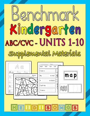 Benchmark ABC CVC Kindergarten 1-10