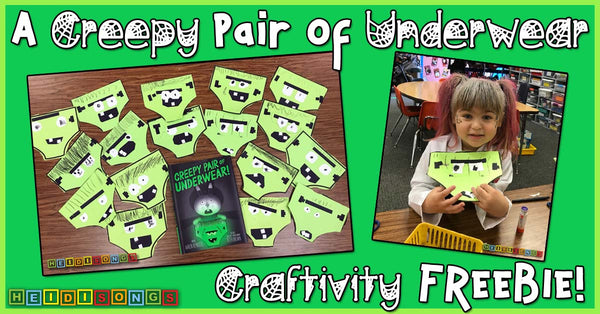 A Creepy Pair of Underwear Craftivity FREEBIE