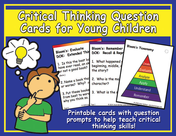 Critical Thinking Question Cards