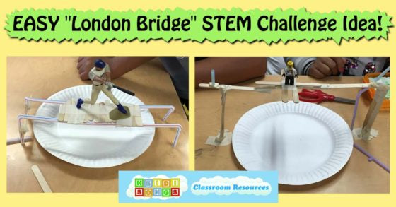 "EASY ""London Bridge"" STEM Challenge Idea! Heidisongs, kindergarten, first grade, Tk, nursery rhymes"