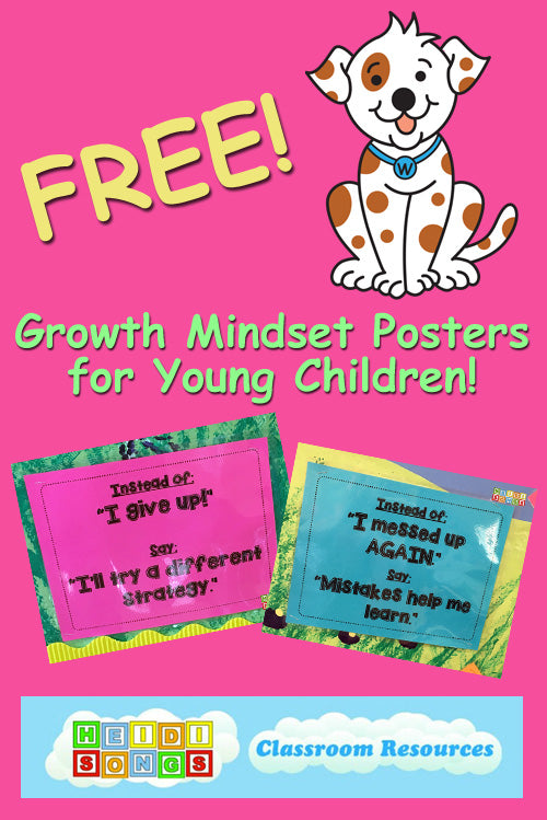 FREE Growth Mindset Posters - HeidiSongs