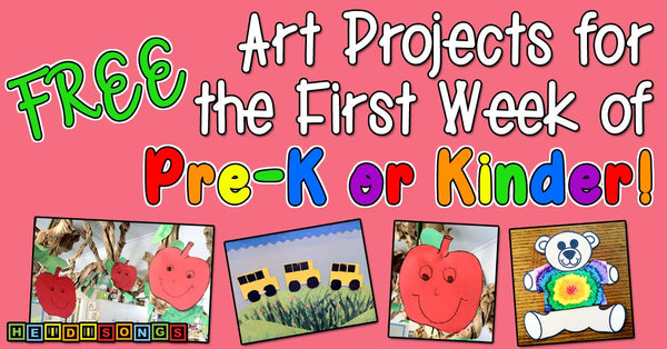 FREE art projects for Pre-k and kinder