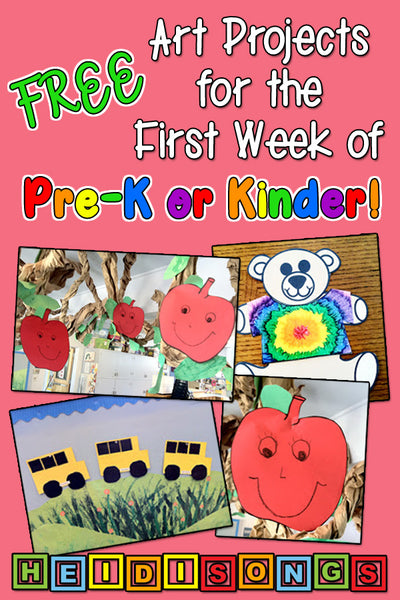 Free art projects for pre-k and kinder - first week
