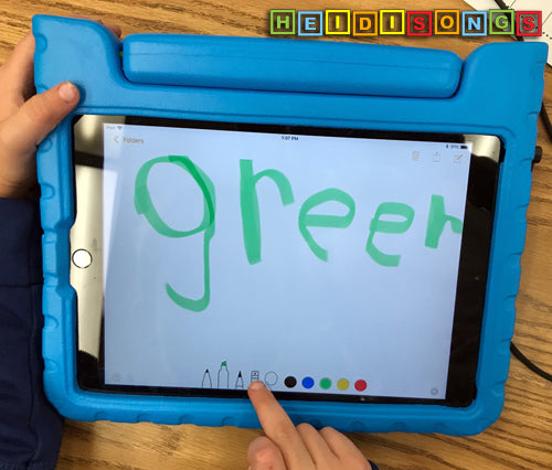 GREEN Sight Word, iPad, Kindergarten, TK
