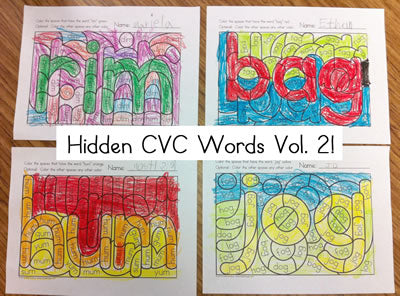 Hidden CVC Words