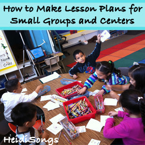 How to Make Lesson Plans for Small Groups