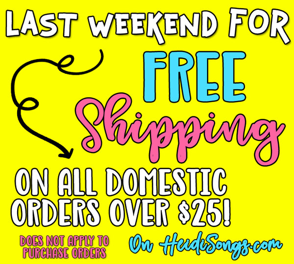 LAST WEEKEND for free shipping!!!
