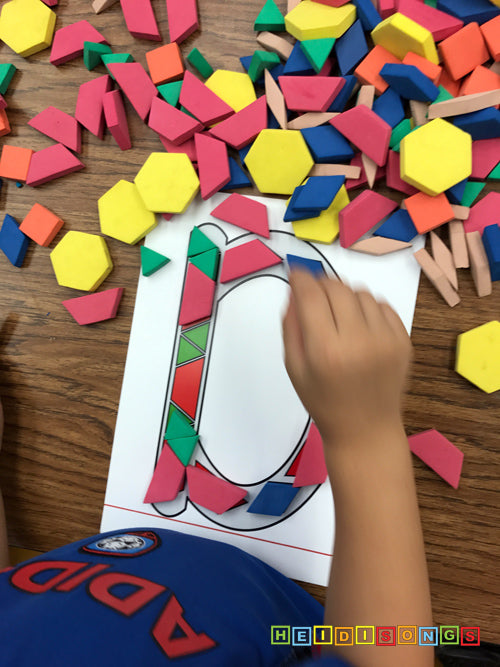 Alphabet Pattern Blocks Letter D