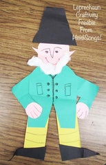 Leprechaun Craft Freebie from HeidiSongs, heidisongs, kindergarten, crafts, spring ideas