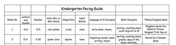 Kindergarten Lesson Plans: Week One! – Heidi Songs