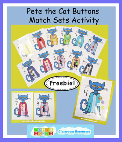 Pete the Cat Buttons Freebie