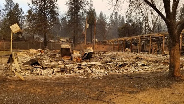 Ponderosa School Burned Out Classroom Camp Fire