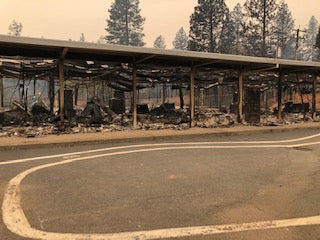 Ponderosa School in Paradise after the Camp Fire