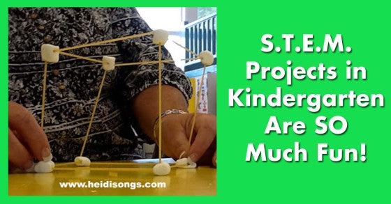 STEM Projects in Kindergarten are So Much Fun! Heidisongs, tk, DIY, stations, whole group activities