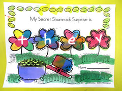 Shamrock Surprise Worksheet