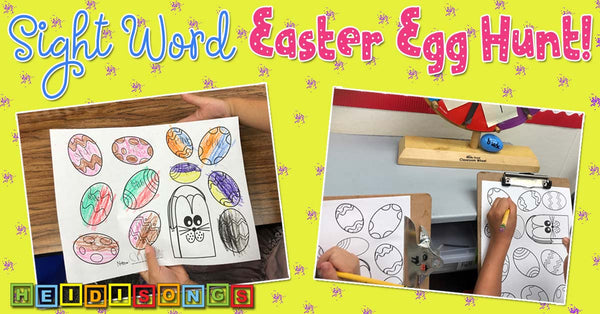 Sight Word Easter Egg Hunt! kindergarten, tk, high frequency words, springtime, writing, reading, freebie