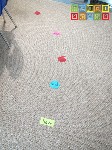 Sit Spots Sight Word Line Up