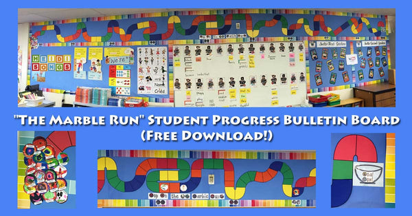 The Marble Run Student Progress Bulletin Board FREEBIE