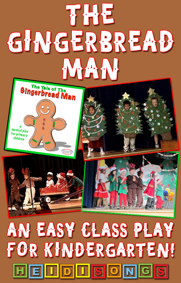 The Gingerbread Man - An Easy Class Play for Kindergarten!