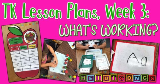 TK Lesson Plans Week 3