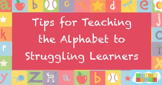 Tips for Teaching the Alphabet