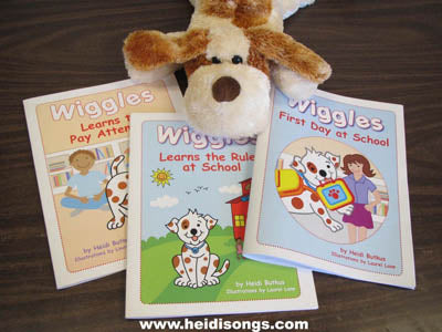 Wiggles Books and Puppet