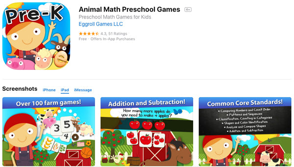 Animal Math Preschool