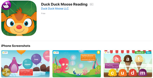 Duck Duck Moose Reading App